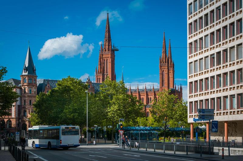 Marktkirche By City Street Against Sky