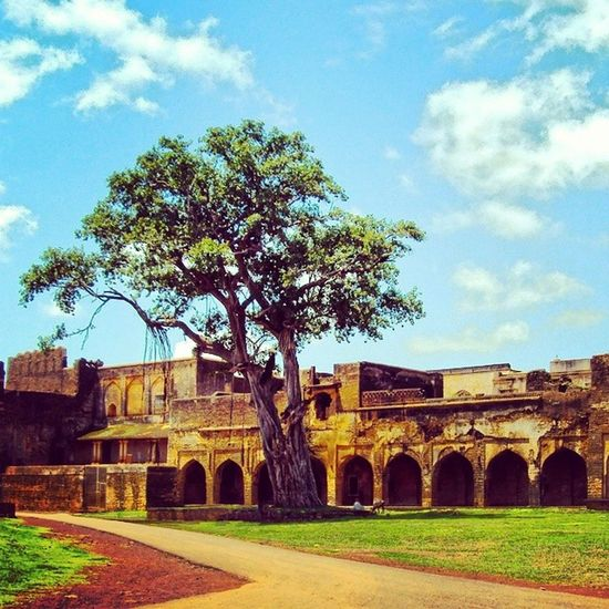 The lonely survivor of the past glory Indiaclicks Bidar Bidarfort Incridibleindia Karnataka India Glory Fort King Sultan Indiapictures Summer Traveling Firstvisit History Indianhistory Blue Sky Past