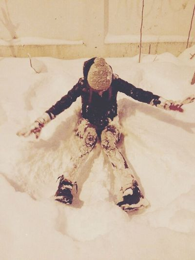 Making Snowangels Bucharest Winter Snow Enjoying Life That's Me Hello World Cold Day Girl Fun