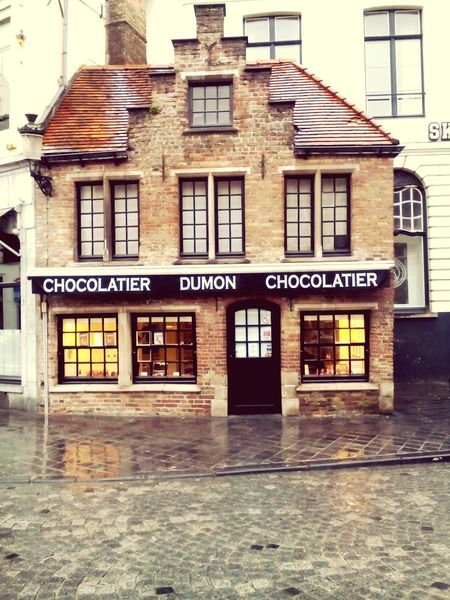The house of chocolate Brugge, Belgium Passionpourchocolat Architecture Window Outdoors