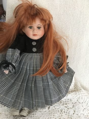Doll Puppe One Person Looking At Camera Long Hair Casual Clothing Indoors  Real People Leisure Activity Girls Portrait Childhood Lifestyles Day Young Adult Close-up People No People Deko