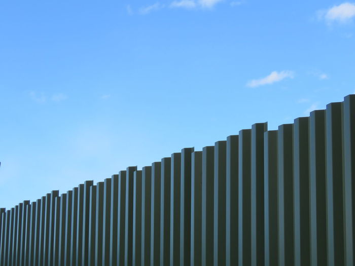 Sky Contrast Fence Wall Iron Architectural Detail Architecture Border Photograph Blue Sky Close-up Security Exterior