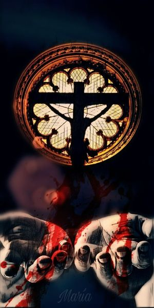 Jesus Christ Church Sacrifice Artwork By Me Edited By Me