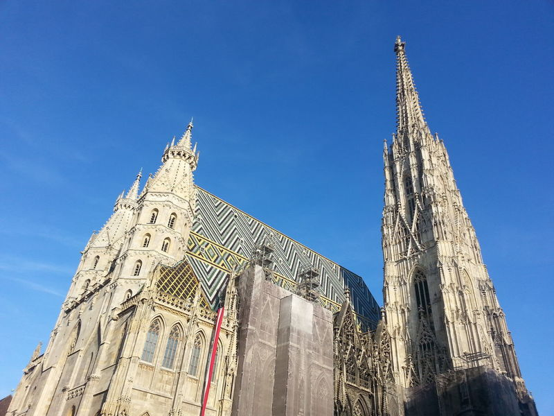 Architecture Blue Capital Cities  Cathedral Clear Sky Low Angle View Spirituality St. Stephen's Cathedral Stephansdom Tourism Vienna