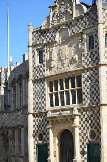 Ancient Guildhall in Kings Lynn Architecture Building Building Exterior Built Structure Chequered Detail Guidhall Guild Hall History No People The Past Traditional Travel Destinations