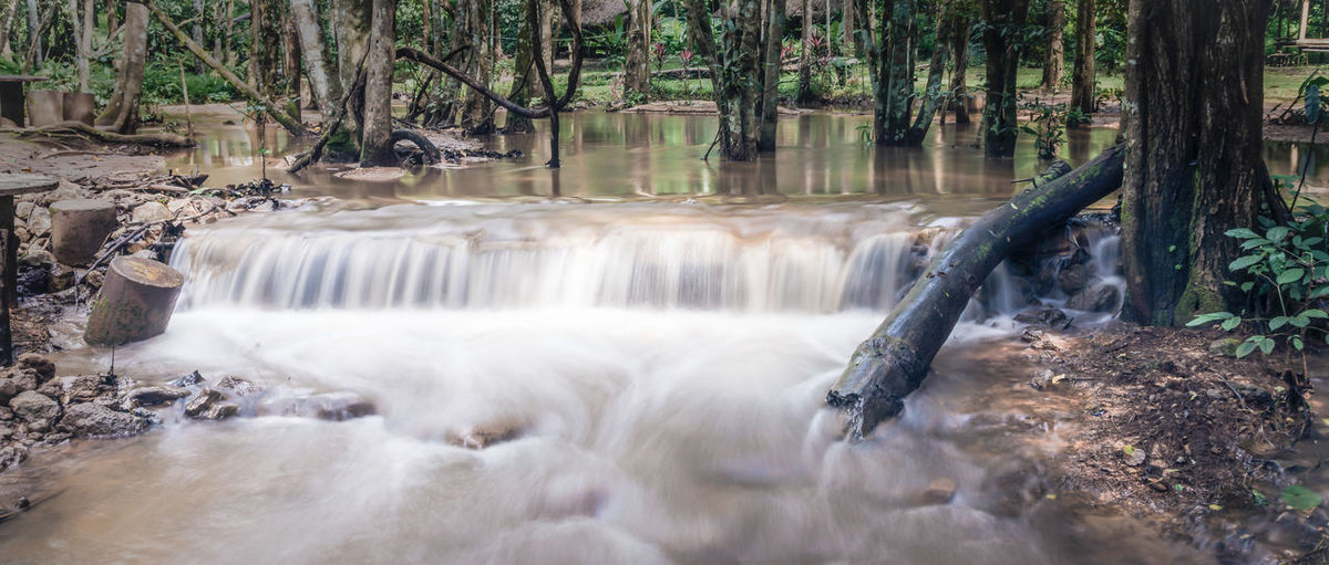 Beautiful Nature Freshness Green Nature Relaxing Thailand Travel Beauty In Nature Blurred Motion Day Flowing Flowing Water Forest Land Landscape Long Exposure Motion Nature No People Outdoors Power In Nature Relax Scenics - Nature Water Waterfalls