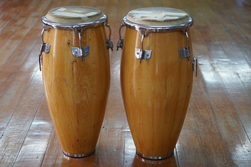 Drums on hardwood floor