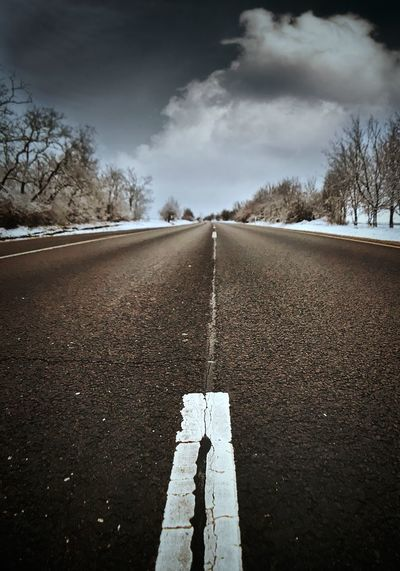 Road The Way Forward Sky Cloud - Sky Diminishing Perspective Day Transportation Outdoors Asphalt No People Nature