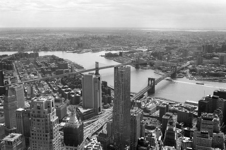 Aerial View Architecture Bnw Brooklyn Brooklyn Bridge / New York Brooklynbridge City Cityscape Landscape Monochromatic Monochrome New York New York City NY NYC NYC Photography Tower