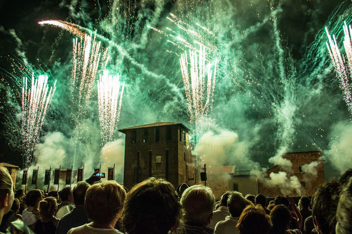 Fireworks Palio Di Legnano Night Outdoors Sky Castello Legnano Canon People People Watching People Enjoying
