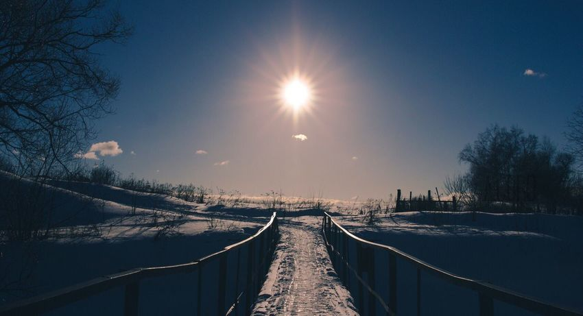 Cold Temperature Sun Sky Sunlight Eos600d