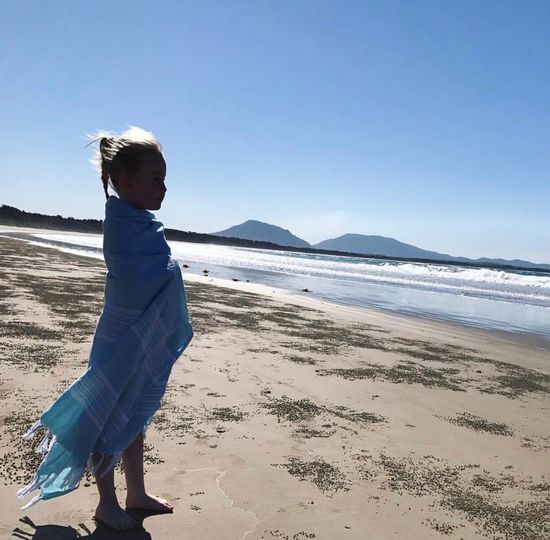 Wave watching beauty Beach Sand Sea One Person Childhood Standing Day Clear Sky Blue Sky Water Nature Outdoors EyeEmNewHere