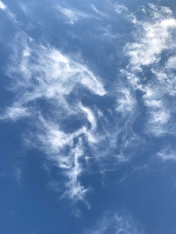 Low Angle View Sky Beauty In Nature Nature Blue Cloud - Sky Sky Only Day Scenics No People Backgrounds Tranquility Outdoors Full Frame