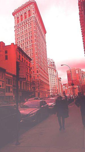 Flatiron for Santacon. Flatiron Building Santacon NYC Rouge