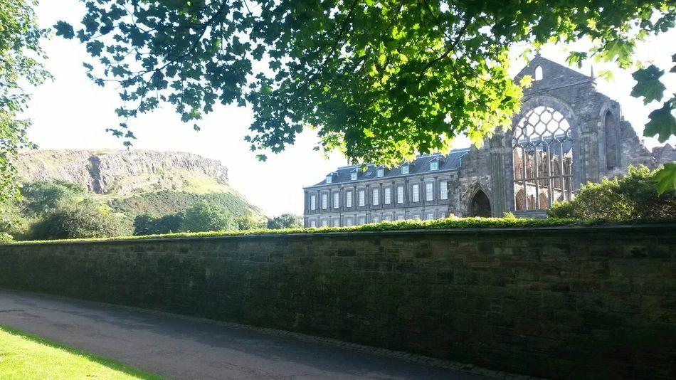 Holyrood Abbey Holyrood Palace Edinburgh Salisbury Crags