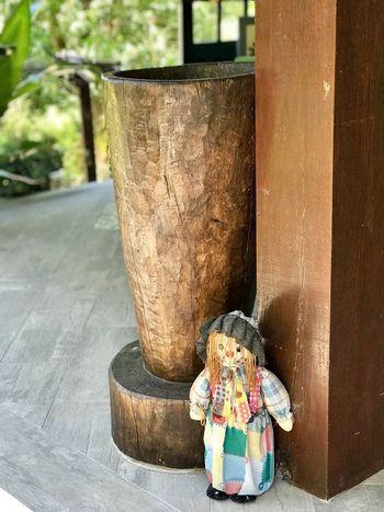 Old wood grain pestle... Scarecrow Balcony Grain Pestle Wood Pestle Pestle Day Outdoors No People Close-up