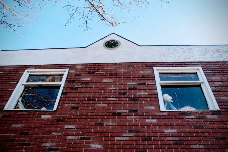 Window Architecture Weathered Low Angle View Sky Brick Brick Building Manican Small Town Exterior Exterior Design Brick Wall Alberta EyeEmNewHere