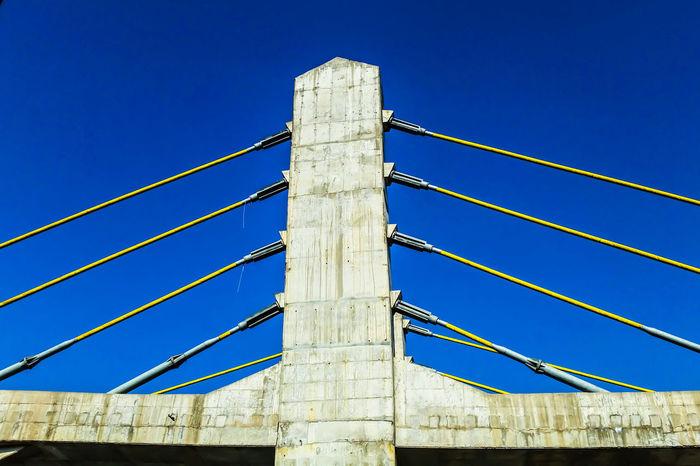 Blue Clear Sky No People Outdoors Day Sky Bridge Bridgesaroundtheworld Cement Cement Bridge Low Angle View