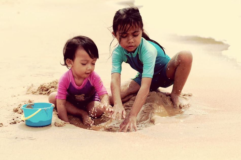 Kids on the beach EyeEm Selects Land Two People Males  Leisure Activity Nature Outdoors