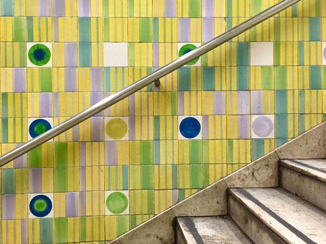 Lisbon metro tiles The Graphic City Pattern Multi Colored Full Frame Steps Lisboa Lisboa Portugal Lisbon - Portugal Martim Moniz  Portugal Tiles Colored Colors Handlebar Urban City Metro Metro Station Underground Underground Station  Creativity Creative Art Street Art Modern Art Street Colour Your Horizn