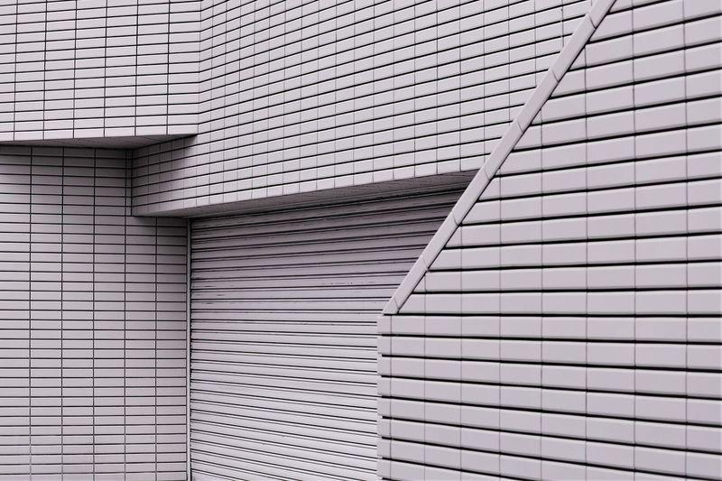 Full frame shot of angles on building