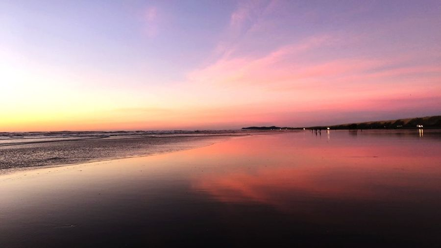 Beach sunset Sunset Water Scenics Beauty In Nature Beach Tranquility Tranquil Scene Colour Your Horizn