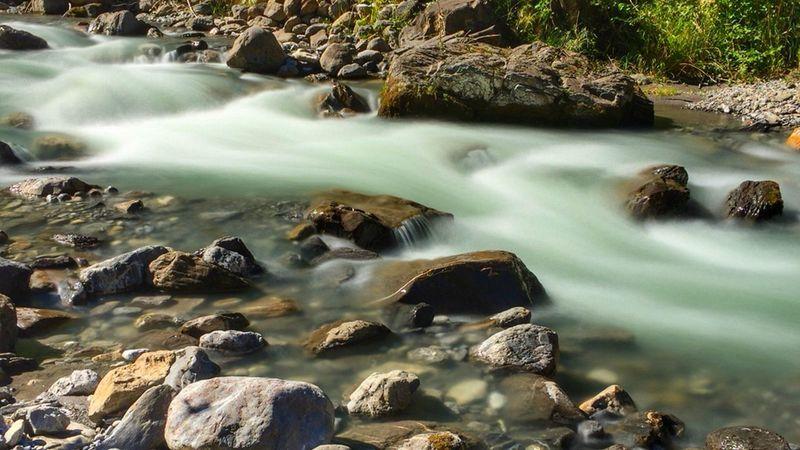 Long Exposure Water Outdoors Blurred Motion River BACH Stone Langzeitaufnahme Wasser Verschwommen Steine
