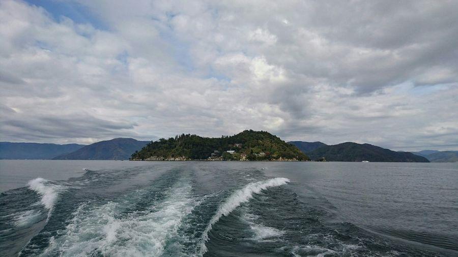バイバイ竹生島。 琵琶湖 Biwako Landscape Clouds And Sky Sky And Water Lake View On The Ship Travel Photography EyeEm Best Shots EyeEm Nature Lover