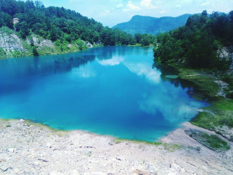 Sawahlunto Coalcity Blue Lakes Trip Photo Tourist Destination Westsumatera Minangkabau Rancak