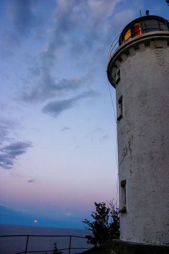 Högbonden lighthouse in the setting sun Architecture Beauty In Nature Blue Built Structure Cloud Cloud - Sky Horizon Over Water Högakusten Högbonden Lighthouse Low Angle View Nature Scenics Sea Sky Tower Tranquility