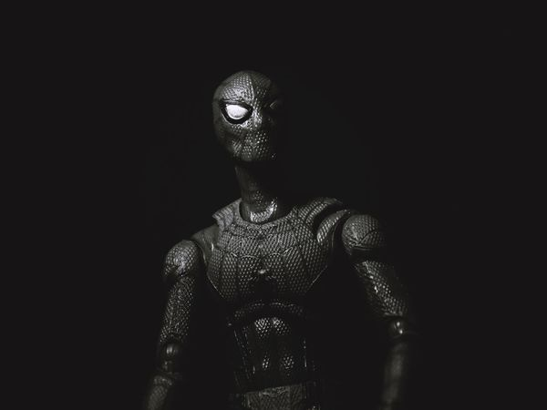 Toyphotography Toys Indoors  Studio Shot Black Background Copy Space Close-up People Dark Representation Creativity Human Representation Front View Figurine  Art And Craft Waist Up Portrait Still Life Playing Architecture Aggression