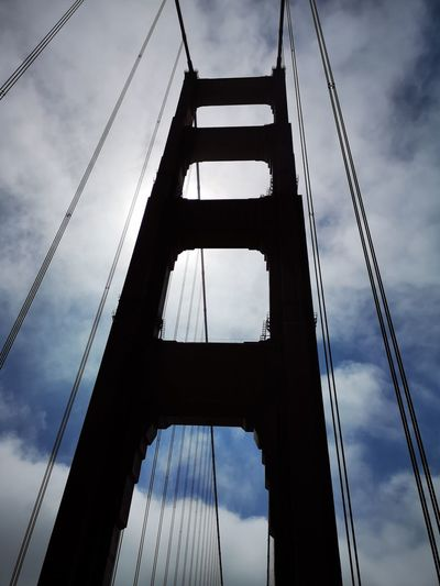 Golf Club City Steel Business Finance And Industry Silhouette Bridge - Man Made Structure Modern Girder Sky Architecture Suspension Bridge Cable-stayed Bridge Engineering Tower Steel Cable Tall Bridge San Francisco
