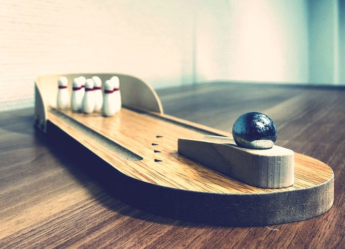 Office Gadgets #bowling #gadgets #office Table Wood - Material Indoors  Hardwood Floor No People Close-up Day