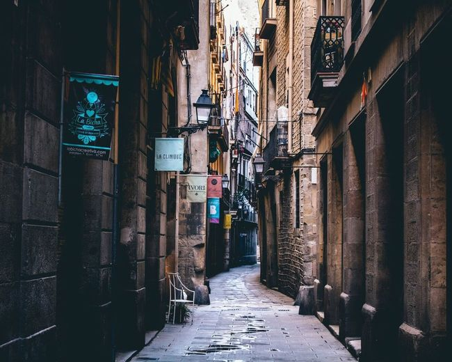 Gothic Quarter in Barcelona Barcelona Streetphotography Color City Alley No People