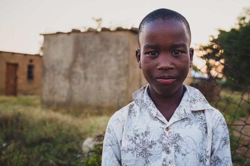 A boy and his shirt Portrait One Person Looking At Camera Africa Limpopo Boy Travel South Africa