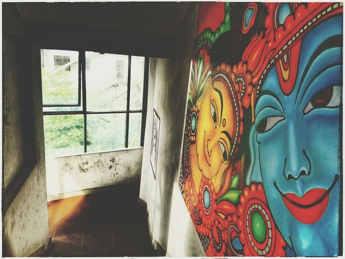 Photograph Wallprint God's Beauty Mobography Window Indoors  Multi Colored No People Day Close-up Architecture