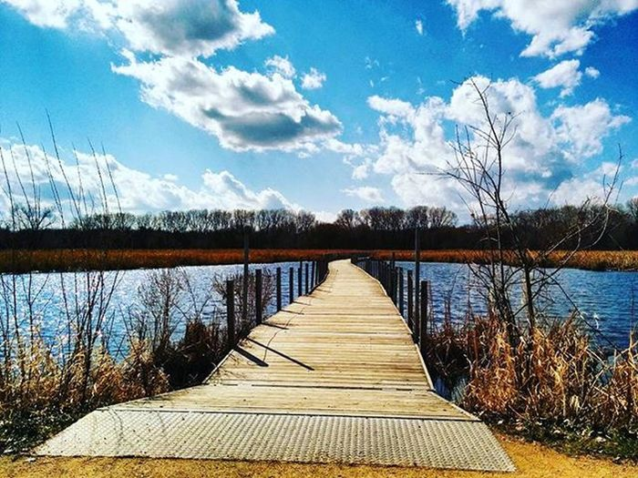 Bridge at Woodlakenaturecenter in Richfield Minneapolis Lake Naturecenter Nature Naturewalk  Sky Bluesky Boardwalk Ig_captures Mn Richfieldmn Park Minnesotaparks