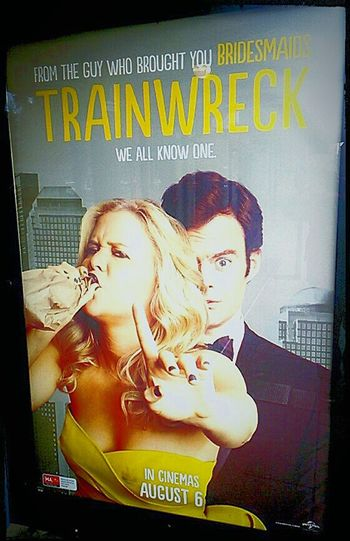 Check This Out Taking Photos Illuminated Train Wreck 2 People Two People Signboard Amyschumer Schumer Illuminatedsigns Trainwreckmovie Trainwreck Illuminated Signs Cinema Poster Movie Poster Cinema Posters At The Flicks Cinema MOVIE Movies (: Poster Movie Posters At The Cinema Posters Poster Collection Posterporn Postercollection Movıe Movies!  Signage