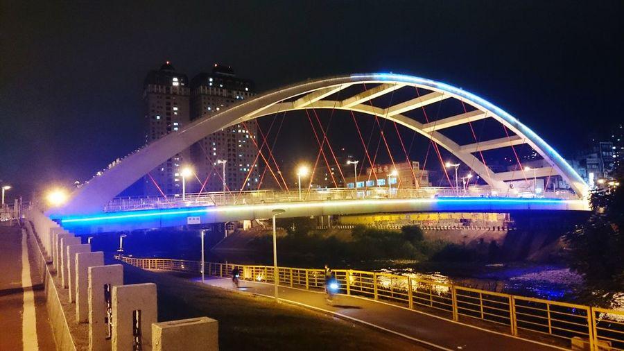 景美舊橋,light magic Taipei City Night Lights View 景美溪