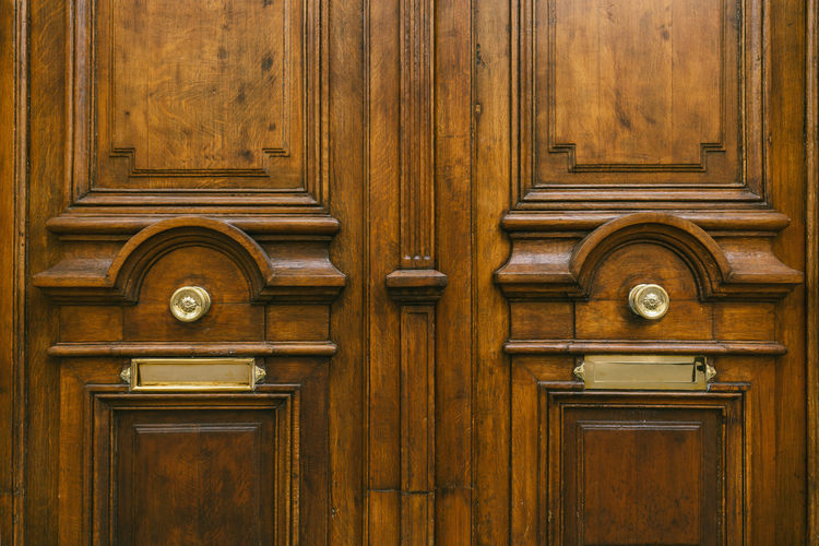 old wooden door Architecture Bell Business Entrance Entrance Gate Old-fashioned Paris Security Building Building Exterior Built Structure Closed Door Doorknob Front Door House Knob Mailbox No People Old Outdoors Pattern Protection Safety Wood - Material