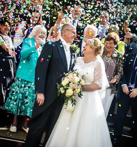 Celebration Bride Wedding Wedding Dress Life Events Wedding Ceremony Togetherness Bridegroom Happiness Well-dressed Love Wife Standing Day Women Men People