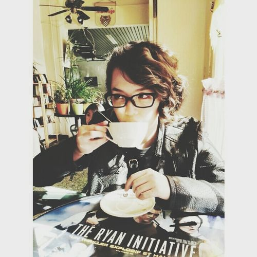 Selfportrait Cafe Tea Portrait