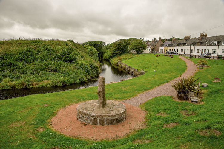 A small scenic public park in a Cruden Bay village, England, Great Britain Aberdeenshire Cruden Bay Great Britain Holiday North East Place Scotland Tourist United Kingdom Cloud - Sky Explore Grass History Landscape Location Outdoor Outdoors Scenic View Seaside Small Stone Town Travel Destinations