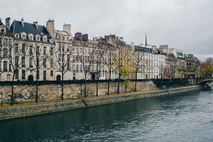 Paris Seine Outdoors Waterfront River Architecture Built Structure Water Building City