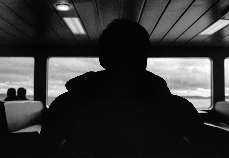 👥 👤 Blackandwhite Silhouette Streetphotography Washington State Ferry Boat Puget Sound Pacific Northwest