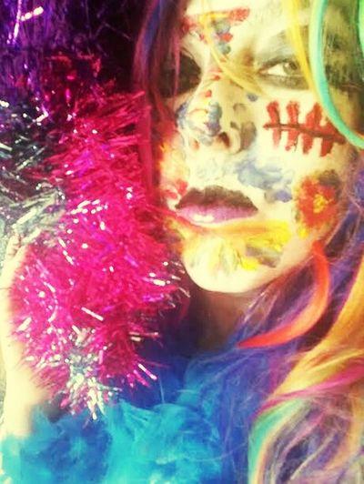 An elaborate selfie. Selfie San Antonio Chupacabra Disco Kroma Scott