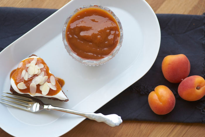 Carrotcake Cream Dessert Food Freshness Healthy Eating High Angle View Jam Marmalade Ready-to-eat Sweet Food Table Temptation