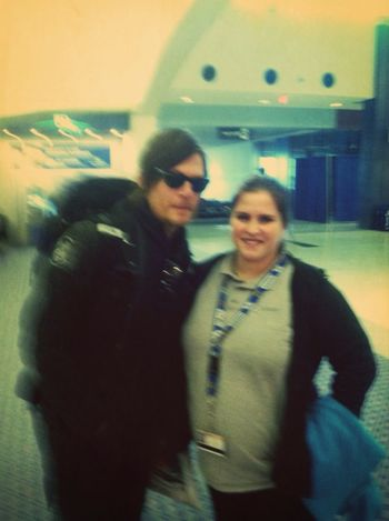 Blurry but who cares it's Daryl Dixon or Norman Reedus