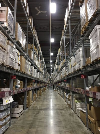 Warehouse Distribution Warehouse Storage Compartment Industry Cardboard Box Shipping  Shelf Storage Room Indoors  Transportation Store Business Delivering No People Day