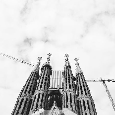 Travel Destinations Travel Low Angle View Cloud - Sky No People City Architecture Outdoors Day Sky Black And White Blackandwhite Barcelona Dramatic Sky Sagrada Familia Gaudi City Travel Travel Photography Welcome To Black EyeEmNewHere